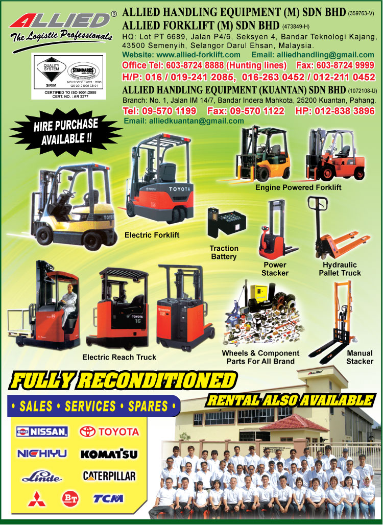 Allied Handling Equipment M Sdn Bhd Malaysia Infopages