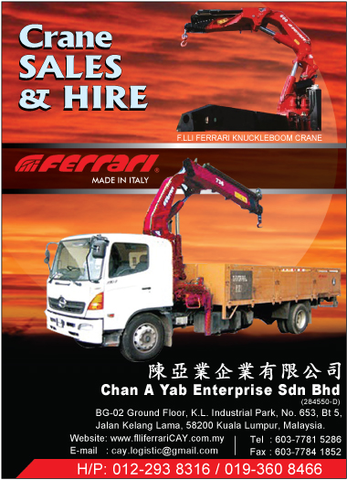 Mobile Crane Rental Malaysia : Lorry crane mobile rental