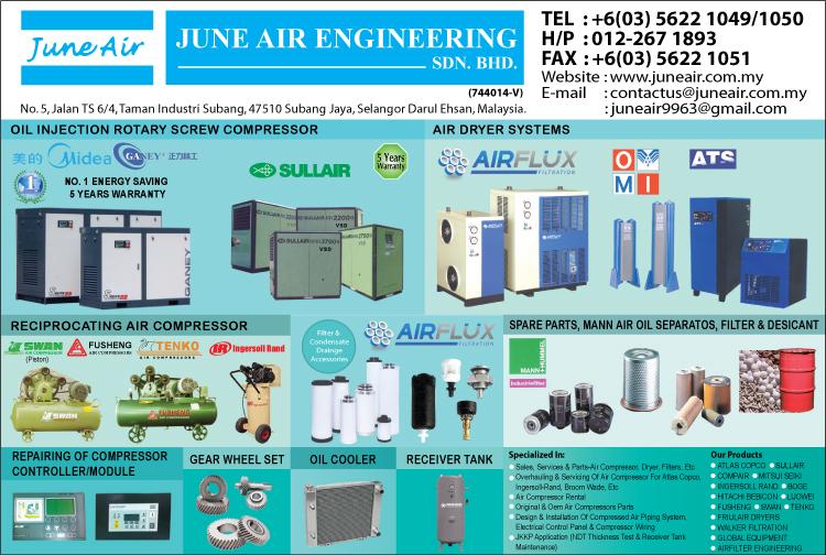 June Air Engineering Sdn Bhd Air Compressors Subang