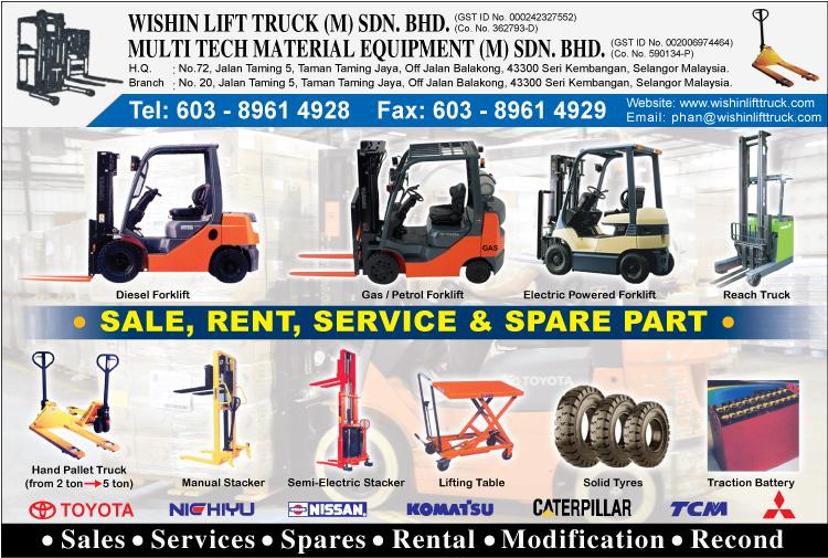 Wishin Lift Truck M Sdn Bhd Forklift Trucks Seri