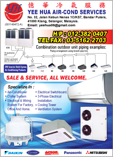 Yee Hua Air Cond Services Air Conditioning Contractors