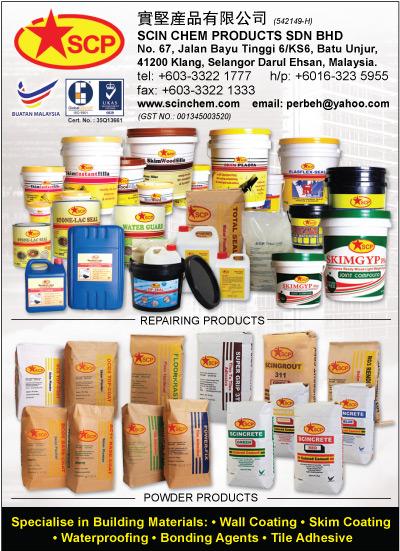 Scin Chem Products Sdn Bhd Malaysia