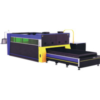 Fiber/Co2 Laser Cutting Machine with Full Protective Cover