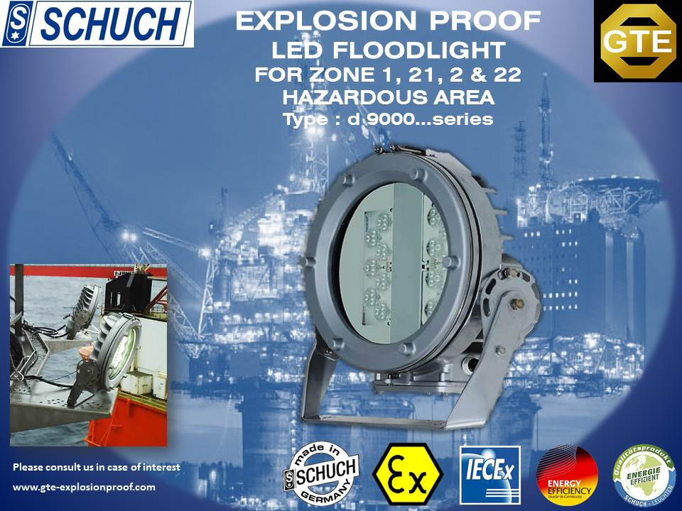 Schuch D Series Explosion Proof Led Floodlight For Zone And Hazardous Area Photo on Explosion Proof Receptacles Hubbell