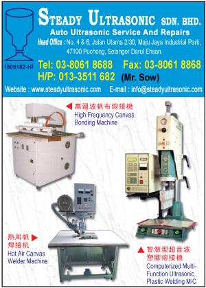 Steady Ultrasonic Sdn Bhd High Frequency Ultrasonic