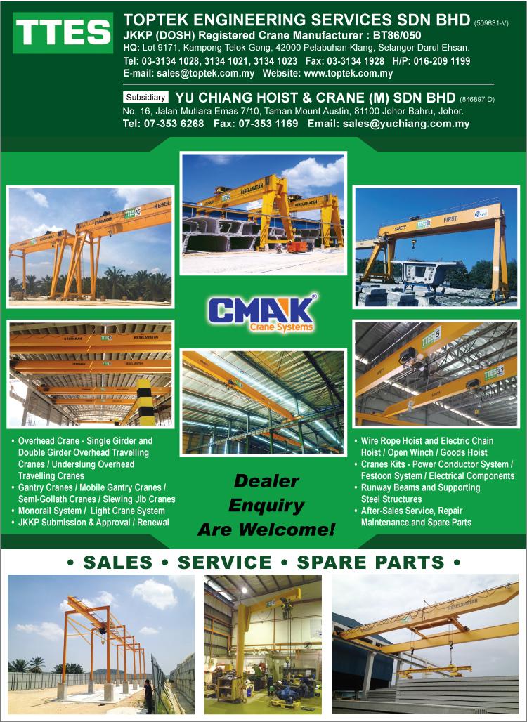 Toptek Engineering Services Sdn Bhd - Cranes - Industrial | Port