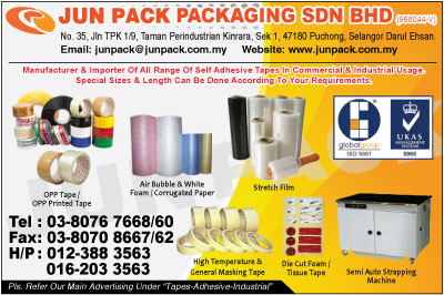 Jun Pack Packaging Sdn Bhd Packaging Materials Puchong