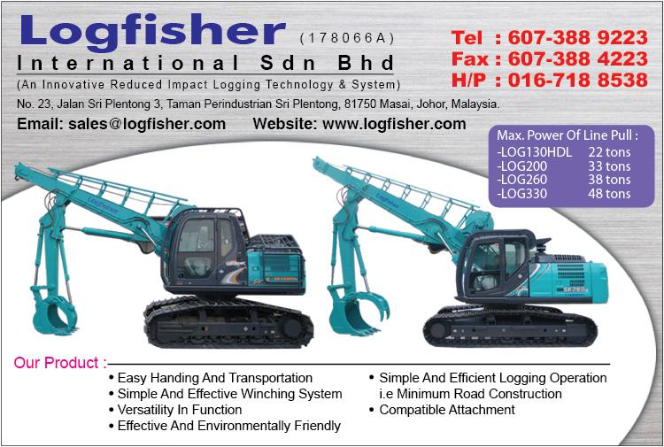 Logfisher International | Logging Equipment | Excavator Logging JB