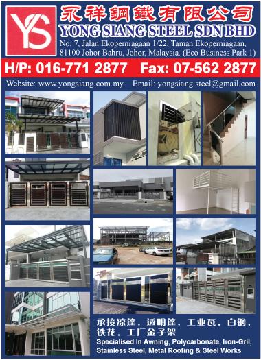 Poly Carbonate Awning Manufacturer Yong Siang Steel Sdn