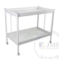 2 Level Perforated Multi-Function Display Rack