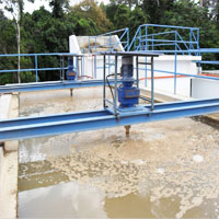 FLOCCULATOR INSTALLATION AT WATER TREATMENT PLANT