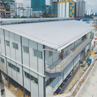 3 Story Prefabricated Lendlease TRX Site Office