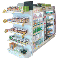Pharmacy Display Rack With Top & Side Light Box
