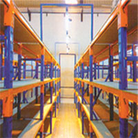 Storage Racking With Walkway