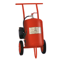 Fire Extinguisher On Trolley
