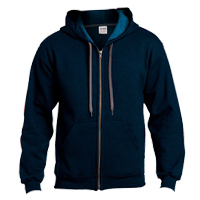 Adult Vintage Full Zip Hooded Sweatshirt - 18700