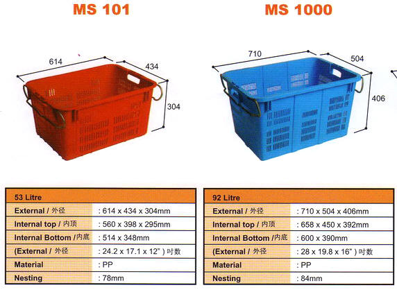Agricultural Plastic Container