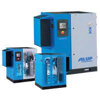ALUP SCK 41-100 Belt Driven Rotary Screw Compressors Model SCK (30 Kw ~ 75 Kw)