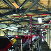 Belt Conveyor Fire Fighting Sprinklers System