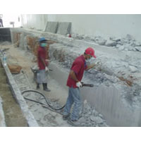 Concrete Cutting And Hacking
