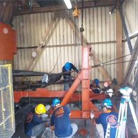 Conveyor Pulley Structure Fabrication & Installation Works
