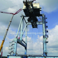 Dismantled Container Crane