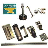 Various Hinges, Latches, Handles, Leveling Glides and Locking System