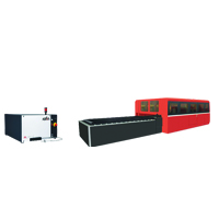 Fiber Laser With Enclosure And Exchange Table