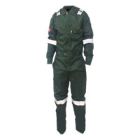 Fire Retardant Coverall Green