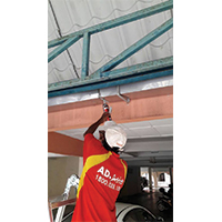 Galvanized Gutter Repairing & Waterproofing Work
