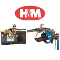 H & M Pipe Beveling Machine
