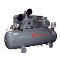 Hitachi Bebicon Oil Flooded Compressor (Horizontal Tank Mount Type)