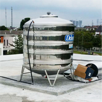 Install S/S Water Tank