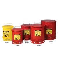 Justrite Oily Waste Cans
