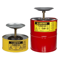 Justrite Safety Plunger Cans