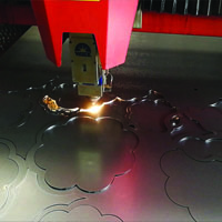 Laser Cutting Sheet Metal Art