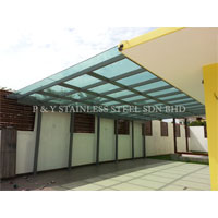 Mild Steel Hollow with Glass Canopy