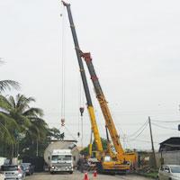 Mobile Crane & Lift Tank