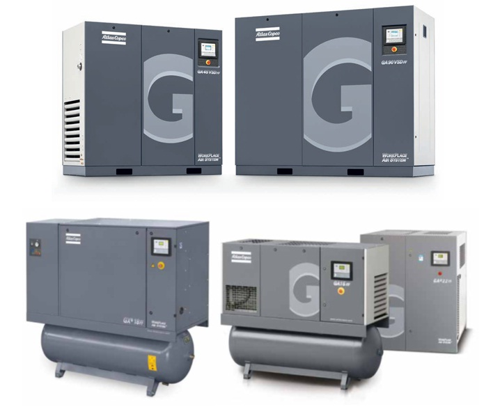 Oil-Injected Rotary Screw Compressors (2Hp-340Hp)