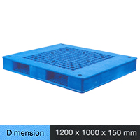 Plastic Pallet Heavy Duty Series Dimension 1200 X 1000 X 150 Mm