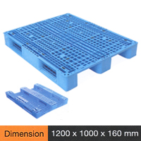 Plastic Pallet Medium Duty Series Dimension 1200 X 1000 X 160 Mm