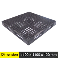 Plastic Pallet One-Way Series Dimension 1100 X 1100 X 120 Mm