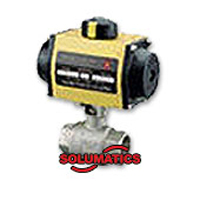 Pneumatic Actuator With Brass Ball Valve
