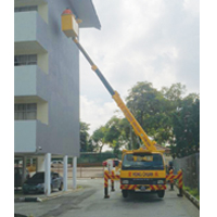 Rental Skylift - Senai Apartment Paiting Job