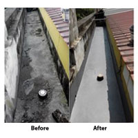 Repair Concrete Gutter Leaking (Before & After)