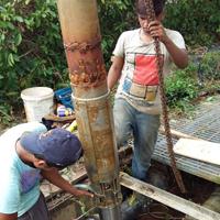 Repair Of Fountain Pump At Golf Course