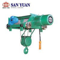 SAN YUAN Electric Wire Rope Double Rail Hoist (Single Speed)