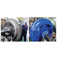 Sea Cooling Water Pump Impeller Repair & Coating