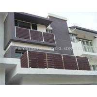 Stainless Steel with Aluminium Wood Balcony Handrail