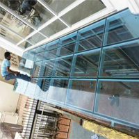 Tempered Glass Awning With Frame